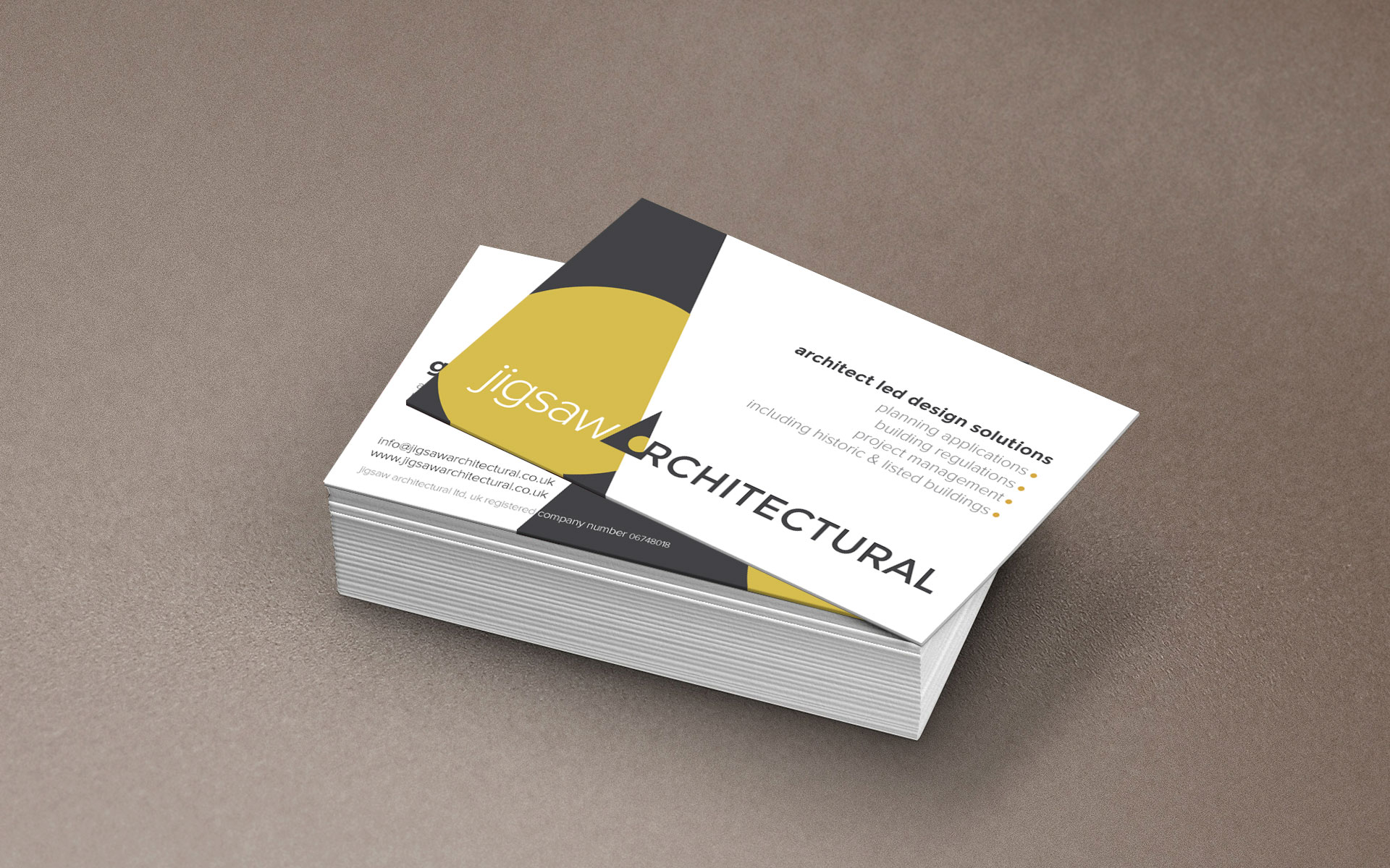 3moments Studio | Jigsaw Architectural Business Cards   3moments Studio